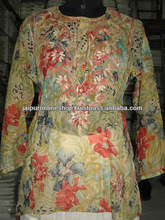 Long sleeves simple sequence embroided short kurtis, new fashion kurtis for 2012/13