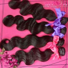 Top 4A Unprocessed 100% Virgin Malaysian/Peruvian/Russian/Brazilian Human Hair Body Wave Natural Black Human Hair Extension