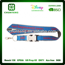 meet clients` demand imprint satin lanyards