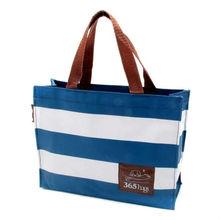 Navy Style Stripe Bento Lunch Bag Eco Reusable shopping bag