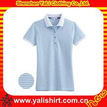 Novel embroidered deep blue t shirt polo women