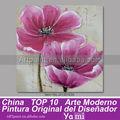 moderna flor rosa pinturas retrato para quarto