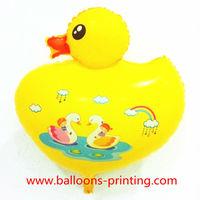 Big Yellow Duck Mylar Balloons Cartoons Animal Inflatable Helium Balloons