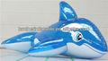 riproduzione mare gigante gonfiabile balena blu