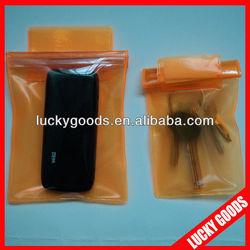 transparent PVC mobile phone carry bag