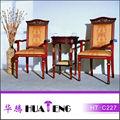 Clássico de madeira frame tecido de estofado poltrona ht-c227
