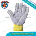 Luvas de couro kevlar corte- resistente ao calor luva resistente