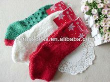 Christmas stocking , green red , Christmas socks