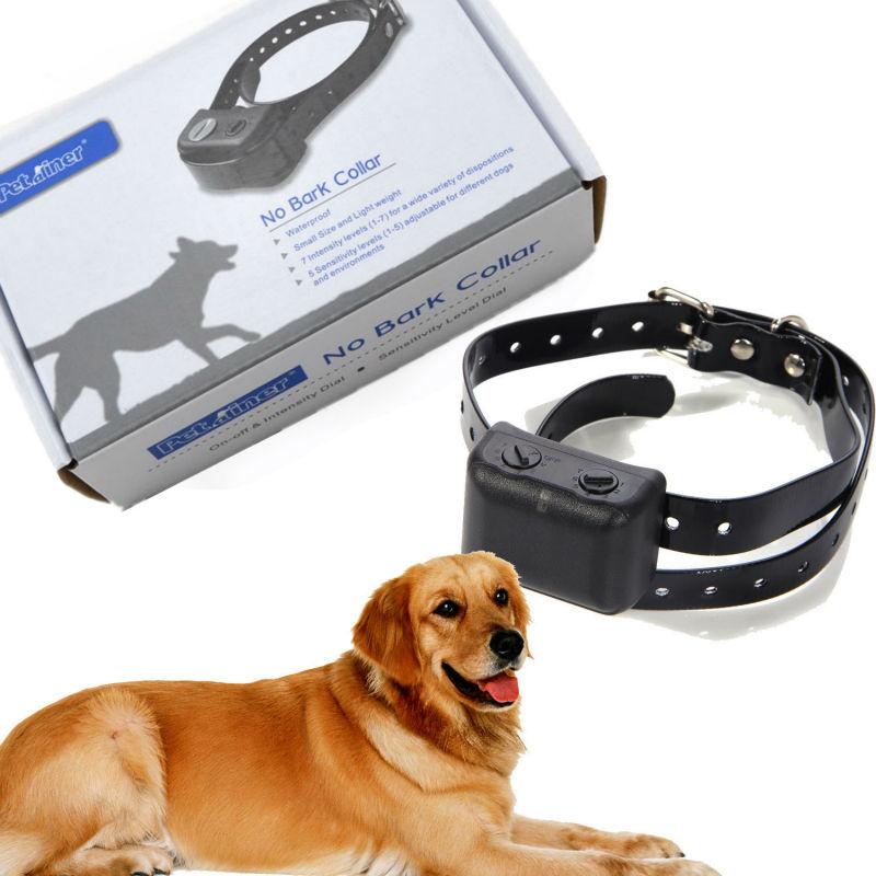 Waterproof Rechargeable Medium Large Anti Bark No Barking Dog Shock Collar