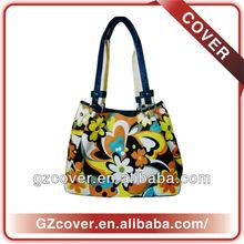 Fancy stylish canvas tote bag woman 2013