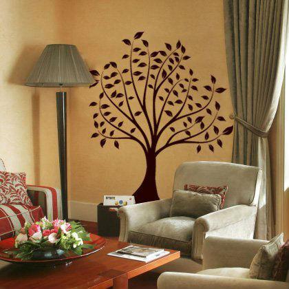 pema etiqueta de la pared w202 floresplantas tribales-Papeles ...