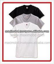 Best Quality Fashion Style Printed Cotton V-Neck T-Shirt