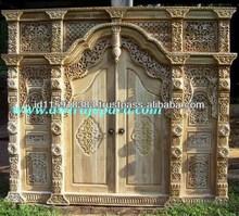 Classic Teak Gebyok Ethnic Style, Full Door Model Javanesse Carving.