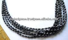 Exclusive Buryl Facet Beads Natural Black Diamond