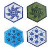 Blue Pottery Six Corner Handmade Tile