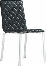 2013 modern black PU dining chair