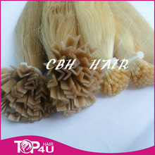 alibaba express in brazilian virgin hair v-shape pre bonded hair extension