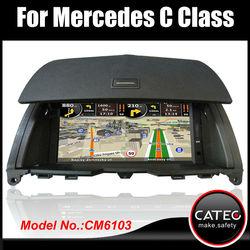 "Original 7"" in dash 2 din auto radio cd dvd navigation head unit for mercedes benz C180"