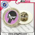 diseño personalizado del cráneo de metal pin badge