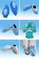 Chuva pp/cpe/sapato pe cobrir/galochas em verde/azul