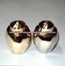 Brass polished Urn shaped Salt and pepper shaker set, Wedding condiment set, Wedding gift