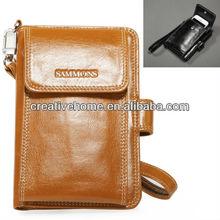 Fashionable Multifunction Genuine Leather Short Wallet / Clutch Bag for Men