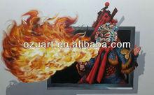 Handmade modern wall art 3d paintings for sale peking opera D104
