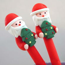 Customized Christmas Gift Polymer Clay Pen (LOGO printing is available)