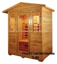 outdoor sauna for four persons