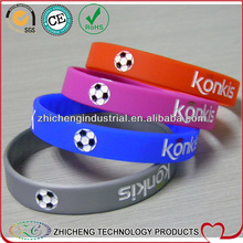 GOOD LUCK with football logo four colors unisex sportal brand new bracelet top quality wristband