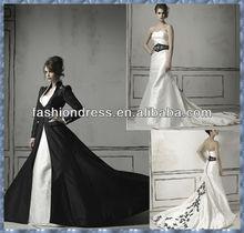 2014 halloween bride dresses gothic black gothic victorian wedding dresses T-W070