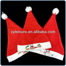 custom santa hats / plush santa hat / christmas hat / children christmas santa hat