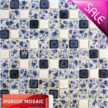 Western rurality Mediterranean style ceramic mosaic tile interior wall drawing room HG-8k194