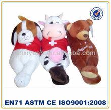 Cute plush stuffed sleeping animals