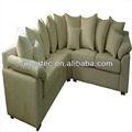 pvc bonito sofá de canto com almofada macia