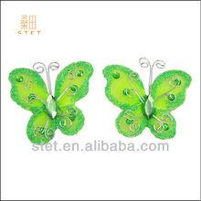 Halloween nylon decoration apple green handicraft butterfly