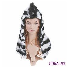 adult faux fur animal ear hats,animal ears winter hat