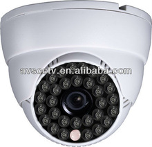 Plastic IR Dome Camera White Clear Imaging CCTV