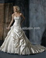 cy383 popular capela trem vestido de baile plissado tafetá de apliques de vestidos de noiva plus size