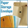 Paper light blue storage envelopes for office used items