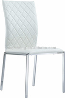 best price white leather dining chair with stainless steel frame