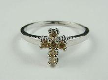 Cross Shaped CZ Ring