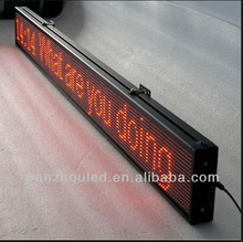 hot sales!!!!!Hidly red Led outdoor !!!!!!! waterproof single color sign P20 cheap led sign
