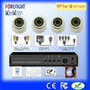 H.264 DVR with ir dome security cameras/CCTV DVR Kits