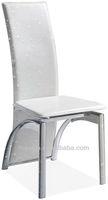 Z608-3 Chrome Legs White High Back Elegant Modern Dining Chair Sale,Cheap Dining Chair,Dinner Chair