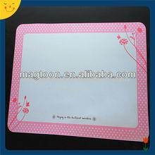 Custom pink flower printing whiteboard fridge magnet