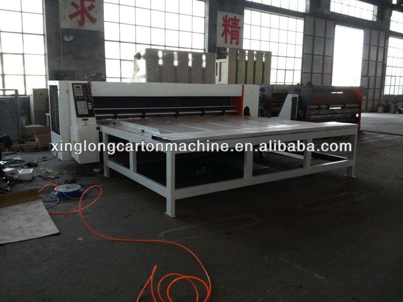 corrugated carton box semi-auto rotary die cutting machinery