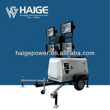 trailer mounted lighting towers MLT41000-10T (4x1000W, KUBOTA ENGINE +STAMFORD ALTERNATOR)