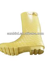 snake grain Natural rubber rain boots/gumboots/wellington for ladies