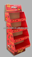 Nut Display Racks, Cardboard Floor Display for Supermarket